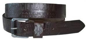 Harley-Davidson Men's Scorching Belt Brown Leather HDMBT10613