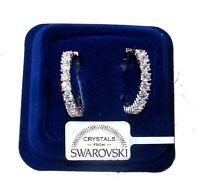 orecchini da Donna pl. oro 18K con cristalli zirconi Swarovski veri SWC/15 hoop