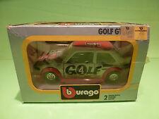 BBURAGO 0197 VW VOLKSWAGEN GOLF GR.2 - HEUER SILVER 1:24 - VERY GOOD IN BOX