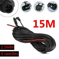 15M Car DVR Rear View Backup Camera Extension Cable 4 Pin Dash Cam Recorder Cord