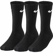 Nike Crew Cotton Socks Cushioned Unisex 3 Pairs Long Training Sports Running M White