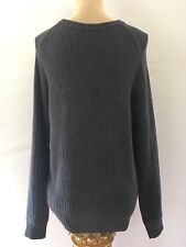 Timberland Men's 100% Cotton Sweater-Size Large Charcoal Grey.