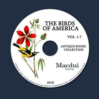 The birds of America 1840 by John James Audubon - 7 PDF E-Books on 1 Data DVD