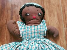 Antique Cloth Topsy Turvy Doll Black and White Americana Flip Doll