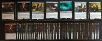 MTG BLACK Magic the Gathering 100 card lot with rares