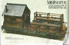 LGB - Mo-Miniatur: BAUSATZ Flachwaggon Werkstattwagen, viel Zubehör