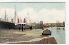 THE NEW DOCK, BURNTISLAND: Fife postcard (C6965).