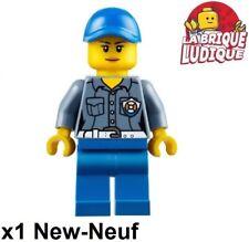 Lego - Figurine Minifig femme woman Coast Guard ATV Driver ski hol107 60155 NEUF