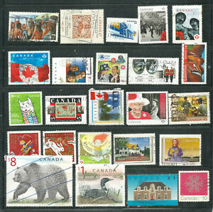 a stock page of recent used stamps from Canada.(C-087)