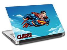 Superman Man Of Steel Personalized LAPTOP Skin Vinyl Decal Sticker NAME L203