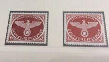 Dr Alemania 1942 militar Parcel Post Sellos tanto Perforado & roulleted estampillada sin montar o nunca montada