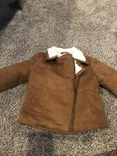 Children's Place Suede/Sherpa Jacket Small 5/6