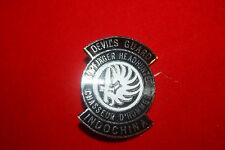 FRENCH FOREIGN LEGION MERCENARY DEVIL'S GUARD INDOCHINA BREAST BADGE KOPFJAGER