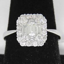NYJEWEL 18k Solid W Gold BJC 1.5ct Diamond Wedding Anniversary Band Ring $10000