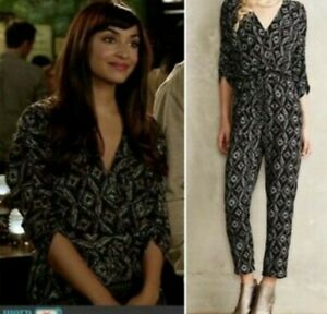 Anthropologie   Elevenses   Dacey Printed Jumpsuit Size Small
