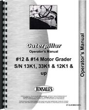 Caterpillar 12f 14e Road Grader Operators Owners Manual 13k1 33k1 12k1 Up