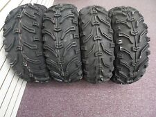 2000-2009 HONDA RANCHER 350 BEAR CLAW 6PLY ATV TIRES NEW SET 4 24X8-12 24X10-11
