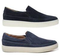 FRAU 28A4 JEANS BLU scarpe uomo mocassini polacchine slip on sneakers camoscio