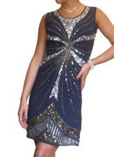 Robes bleu en soie pour femme, taille 38
