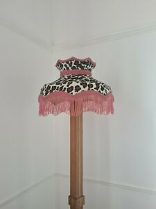 Small leopard print lampshade crown shaped for a table lamp or ceiling pendant