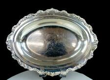 """POOLE SILVER CO. OLD ENGLISH PATTERY SILVER PLATE 12 5/8"""" SERVING DISH 1893-1946"""