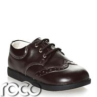 Boys Dark Brown Shoes, Boys Formal Shoes, Boys Wedding Shoes, Baby Shoes