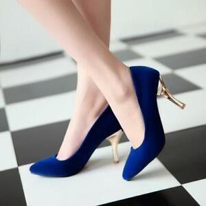Business Ladies Formal Dress with Pointed Toe Colorful Stilettos for Office Use
