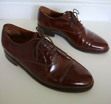 Barker for Russell & Bromley Brown Lace Up Leather Shoes Size 6.5 Width G