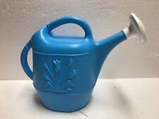 Union Tulip Plastic Watering Can Smaller 1 gallon Size Caribbean Blue Blow Mold