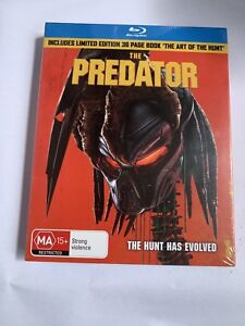 The Predator 2018 New Blu-ray Limited Edition 36 Book'the Art Of The Hunt Sealed