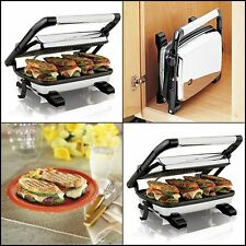 Panini Press Gourmet Grill Toaster Home Sandwich Maker Cafe Style Floating Lid