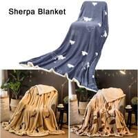 Fausse fourrure couverture polaire chaud grand canapé lit étoile/ours en peluche