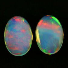 Beauty 0.94 Carats Pair Natural 6x4 Rainbow OPAL Multi Flashing for Setting Oval