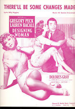 """DESIGNING WOMAN Sheet Music """"There'll Be Some Changes Made"""" Lauren Bacall"""