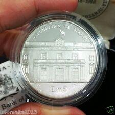 1988 Malta 20th Anniv Bank Of Malta Silver Proof Coin Box And Certificate #0551