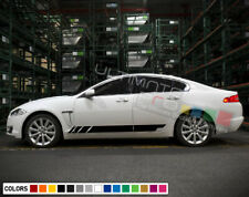 2x Stickers Decal for Jaguar XF turbo Stripes Graphics door body part lip fender