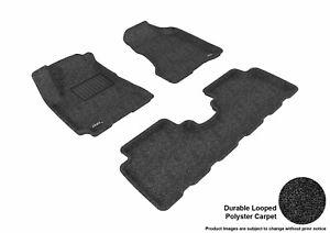 For 2005-2009 Hyundai Tucson R1 R2 Classic Carpet Black All Weather Floor Mat