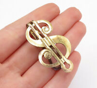 BB CO. 925 Sterling Silver - Vintage Gold Plated Dollar Sign Money Clip - T2070