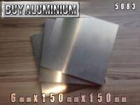 6mm Aluminium Plates / Sheets 150mm x 150mm - 5083