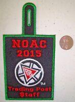 OA NOAC 2015 PATCH 100TH ANN CENTENNIAL TRADING POST STAFF GRN MYLAR POCKET FLAP