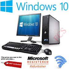 Dell - Dual Core 8GB RAM 500GB HDD Windows 10 - Full Bundle Desktop PC Computer
