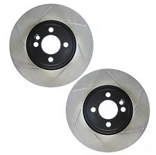 Pair Set of 2 Front Stoptech Slot Disc JCW Brake Rotors for Mini Cooper 07-13