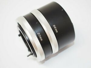 20mm + 36mm Extension Tubes for Canon FD Cameras