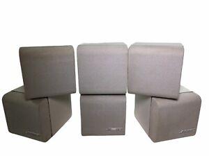 3 Pairs Bose Double Cube Speakers Satellite Surround Lifestyle Acoustimass White