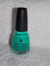China Glaze 1007 TURNED UP TURQUOISE Nail Lacquer w/ Hardeners Polish .5 oz New