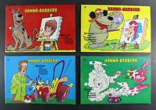 1977 Ediprint HANNA BARBERA FULL 4 x COLORING BOOKS SET Very Rare! Scooby Doo