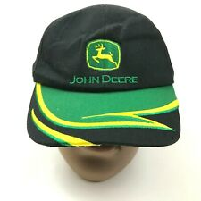 VINTAGE John Deere Hat Cap Strapback Youth Black Green One Size Adjustable Boys