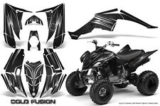YAMAHA RAPTOR 350 GRAPHICS KIT CREATORX DECALS STICKERS COLD FUSION BLACK