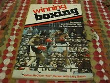Winning Boxing by Julius McClure Carson w/Foreword by Muhammad Ali