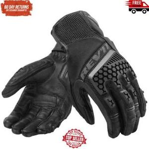 Revit Sand 3 Trial Motorcycle Adventure Touring Ventilated Gloves Genuine Leathe